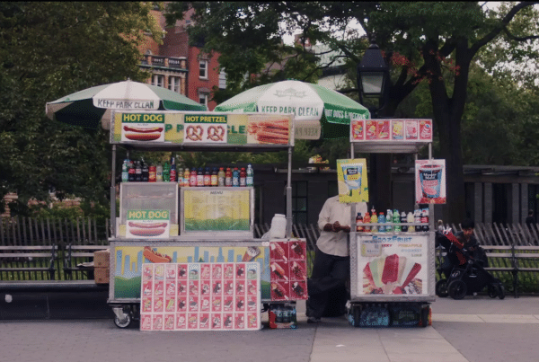 Hot dog cart in New York City