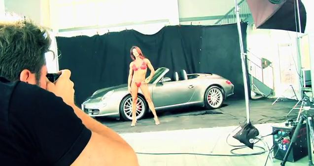 silver porsche carrera turbo at photo shoot