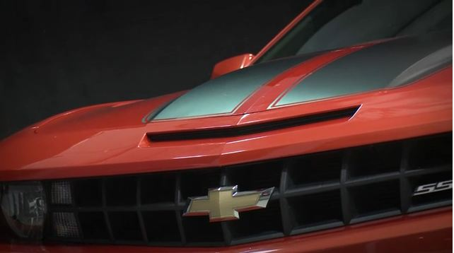 orange 2012 chevy ss grill and hood