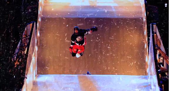 Scott Croxall at Red Bull Crashed Ice Niagara Falls, Ontario