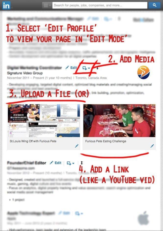 linkedin profile, video, how to use linkedin