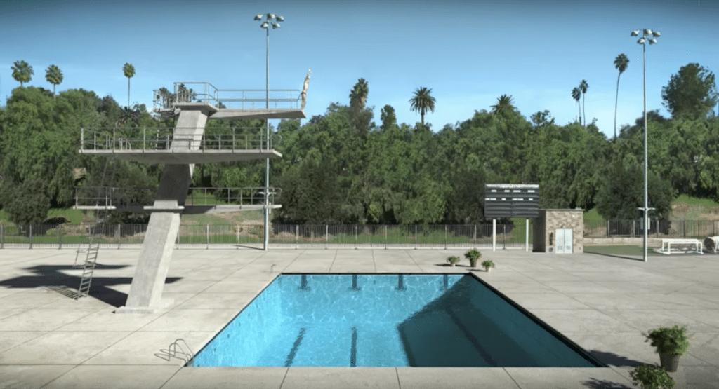 Swimming Pool and Diving Platforms