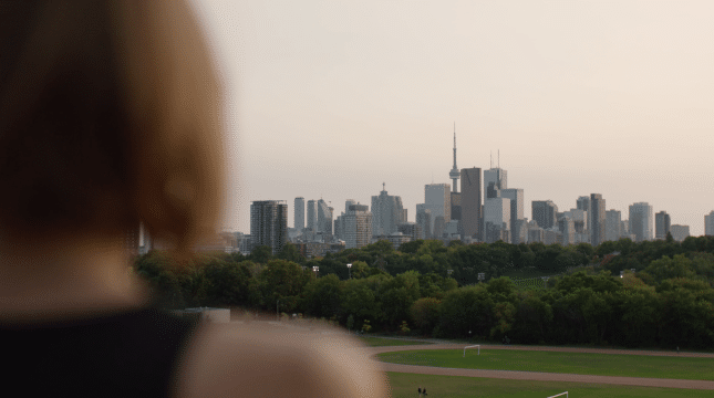City Skyline at Riverdale Park