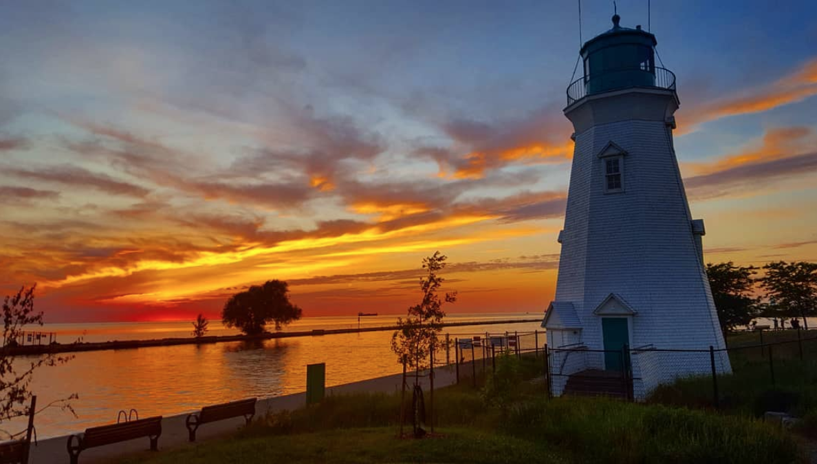 A lighthouse in Port Dalhousie in Niagara